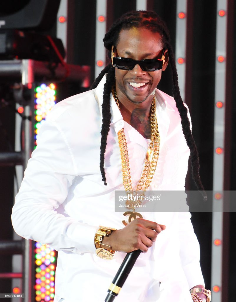 Rapper 2 Chainz performs at the premiere of 'Fast & Furious 6' at Universal CityWalk on May 21, 2013 in Universal City, California.