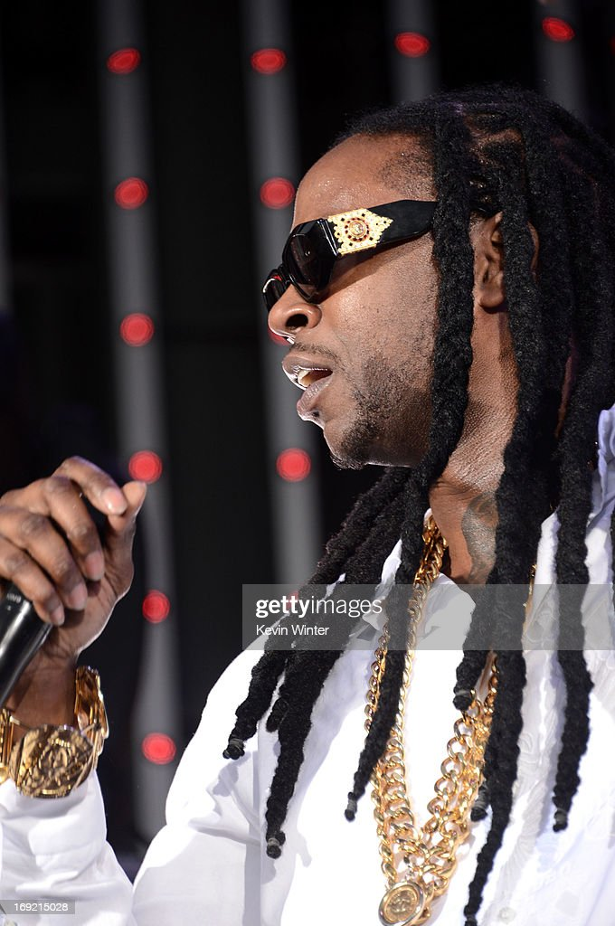 Rapper <a gi-track='captionPersonalityLinkClicked' href=/galleries/search?phrase=2+Chainz&family=editorial&specificpeople=8559144 ng-click='$event.stopPropagation()'>2 Chainz</a> performs at the premiere of Universal Pictures' 'Fast & Furious 6' at Gibson Amphitheatre on May 21, 2013 in Universal City, California.