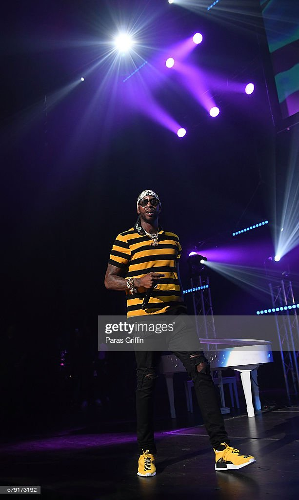 Rapper 2 Chainz performs on stage at Gucci and Friends Homecoming Concert at Fox Theatre on July 22 2016 in Atlanta Georgia