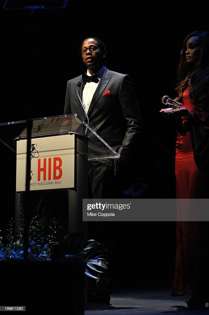 Rapper 2 Chainz speaks at The Hip Hop Inaugural Ball II sponsored by Heineken USA at Harman Center for the Arts on January 20, 2013 in Washington, DC.