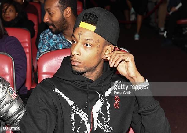 Rapper 21 Savage attends 'Noisey' Atlanta Screening at The Plaza Theatre on January 30 2017 in Atlanta Georgia
