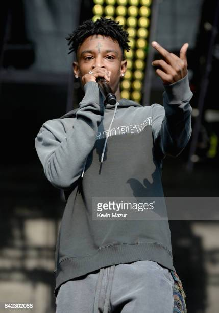 Rapper 21 Savage performs onstage during the 2017 Budweiser Made in America festival Day 2 at Benjamin Franklin Parkway on September 3 2017 in...