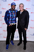 Rapper 50 Cent and CoOwner and EVP of Century 21 Eddie Gindi attend Century 21 Department Store 50 Cent Kickoff Partnership With Tuesday's Children...