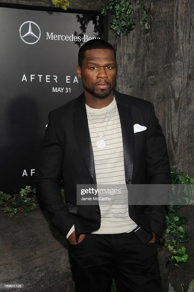Rapper 50 Cent attends Columbia Pictures and Mercedes-Benz Present the US Red Carpet Premiere of AFTER EARTH at Ziegfeld Theatre on May 29, 2013 in New York City.