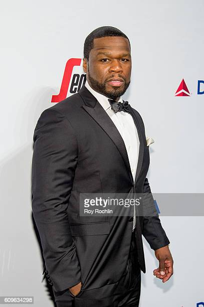 Rapper 50 Cent attends Friars Club honors Martin Scorsese with Entertainment Icon Award at Cipriani Wall Street on September 21 2016 in New York City
