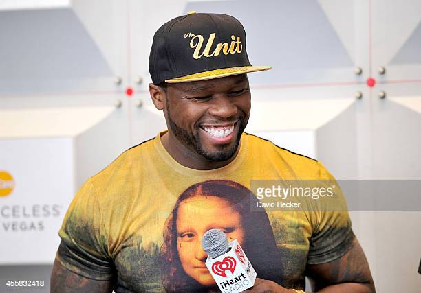 Rapper 50 Cent attends the 2014 iHeartRadio Music Festival at the MGM Grand Garden Arena on September 20 2014 in Las Vegas Nevada