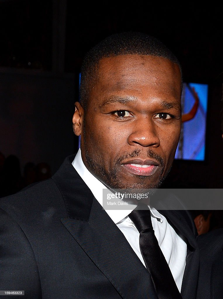 Rapper 50 Cent attends the FOX After Party for the 70th Annual Golden Globe Awards held at The FOX Pavillion at The Beverly Hilton Hotel on January 13, 2013 in Beverly Hills, California.