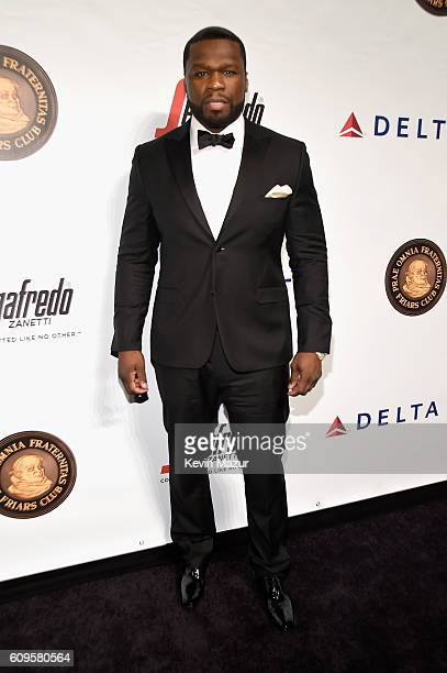 Rapper 50 Cent attends the Friars Club Honors Martin Scorsese With Entertainment Icon Award at Cipriani Wall Street on September 21 2016 in New York...