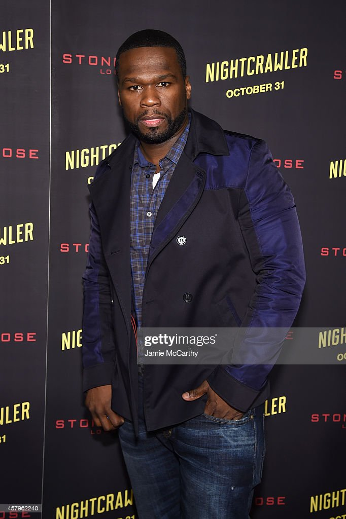 Rapper <a gi-track='captionPersonalityLinkClicked' href=/galleries/search?phrase=50+Cent+-+Rapper&family=editorial&specificpeople=215363 ng-click='$event.stopPropagation()'>50 Cent</a> attends the 'Nightcrawler' New York Premiere at AMC Lincoln Square Theater on October 27, 2014 in New York City.