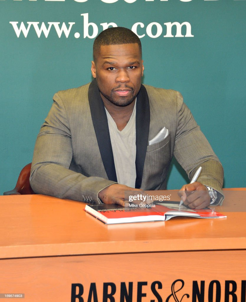 Rapper <a gi-track='captionPersonalityLinkClicked' href=/galleries/search?phrase=50+Cent+-+Rappare&family=editorial&specificpeople=215363 ng-click='$event.stopPropagation()'>50 Cent</a> promotes his new book 'Formula 50: A 6-Week Workout and Nutrition Plan That Will Transform Your Life' at Barnes & Noble, 5th Avenue on January 16, 2013 in New York City.