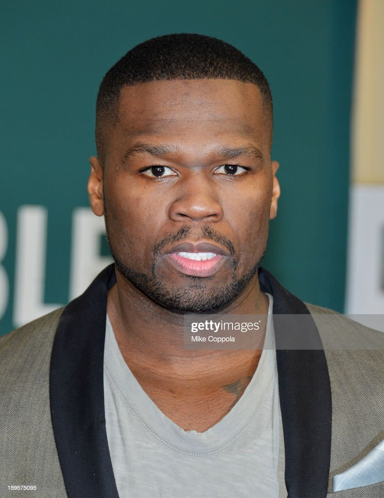 Rapper <a gi-track='captionPersonalityLinkClicked' href=/galleries/search?phrase=50+Cent+-+Rapero&family=editorial&specificpeople=215363 ng-click='$event.stopPropagation()'>50 Cent</a> promotes his new book 'Formula 50: A 6-Week Workout and Nutrition Plan That Will Transform Your Life' at Barnes & Noble, 5th Avenue on January 16, 2013 in New York City.