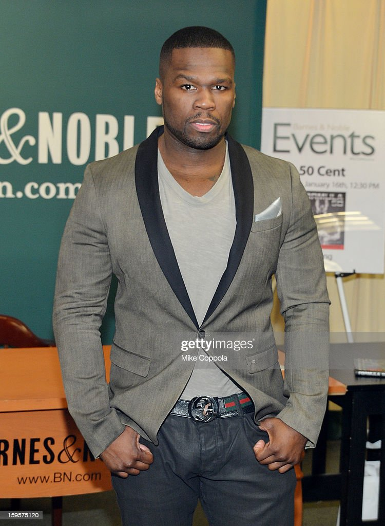Rapper <a gi-track='captionPersonalityLinkClicked' href=/galleries/search?phrase=50+Cent+-+Rapper&family=editorial&specificpeople=215363 ng-click='$event.stopPropagation()'>50 Cent</a> promotes his new book 'Formula 50: A 6-Week Workout and Nutrition Plan That Will Transform Your Life' at Barnes & Noble, 5th Avenue on January 16, 2013 in New York City.