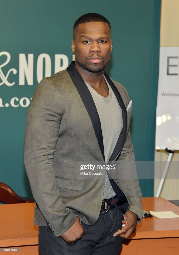 Rapper 50 Cent promotes his new book 'Formula 50: A 6-Week Workout and Nutrition Plan That Will Transform Your Life' at Barnes & Noble, 5th Avenue on January 16, 2013 in New York City.