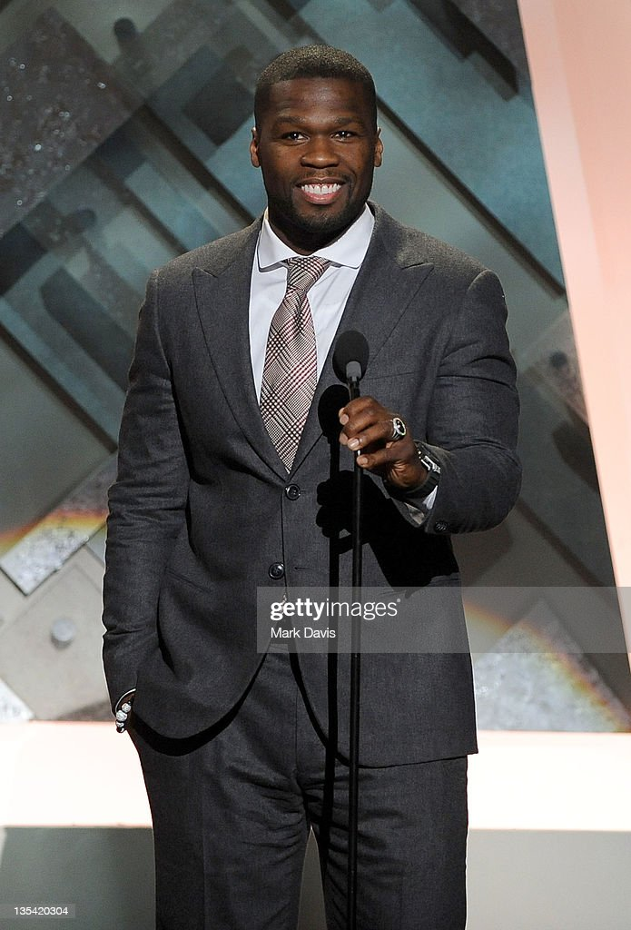Rapper 50 Cent speaks onstage at the American Giving Awards presented by Chase held at the Dorothy Chandler Pavilion on December 9 2011 in Los...