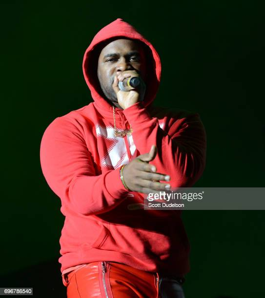 Rapper A$AP Ferg performs onstage during the 'Nobody Safe' tour at The Forum on June 14 2017 in Inglewood California