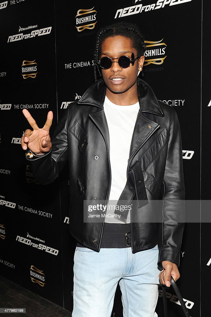 Rapper A$AP Rocky attends DreamWorks Pictures' 'Need For Speed' screening hosted by The Cinema Society and Bushmills on March 11, 2014 in New York City.