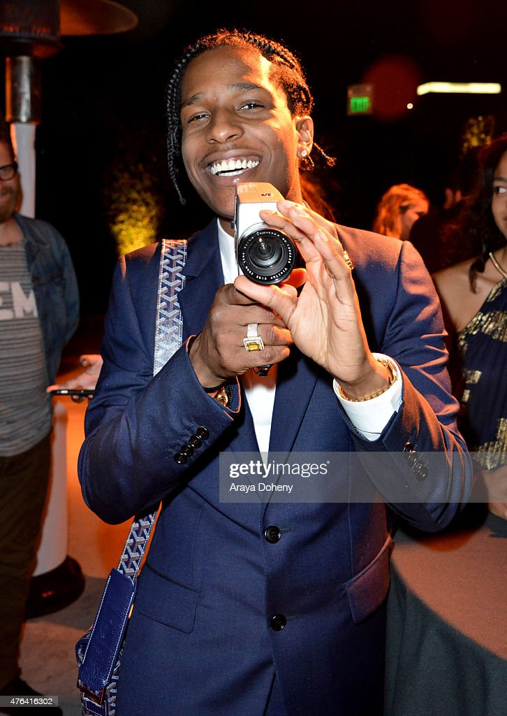 Rapper A$AP Rocky attends the after party for the Los Angeles premiere of 'Dope' in partnership with the Los Angeles Film Festival at Regal Cinemas L.A. Live on June 8, 2015 in Los Angeles, California.