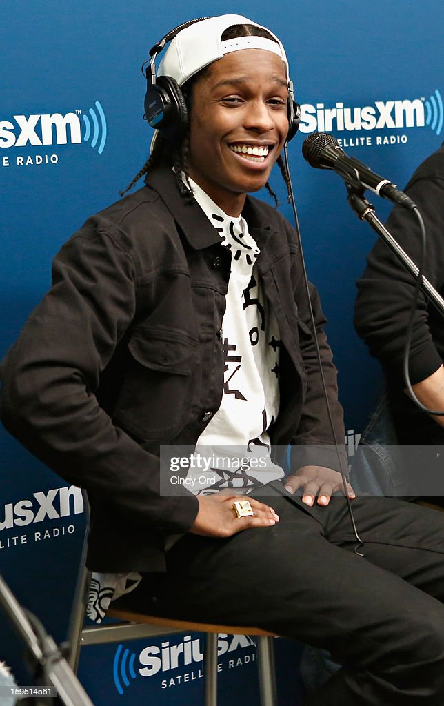 Rapper A$AP Rocky is interviewed live on air at the A$AP Rocky Live Album Release Party on Hip-Hop Nation at SiriusXM Studios on January 14, 2013 in New York City.