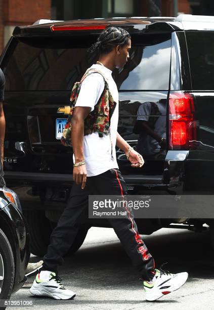 Rapper A$AP Rocky is seen walking in Soho on July 13 2017 in New York City