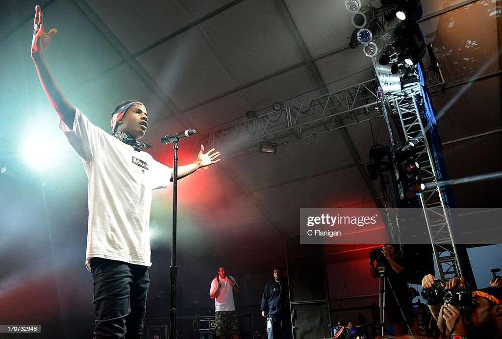 Rapper A$AP ROCKY performs during the 2013 Bonnaroo Music & Arts Festival on June 16, 2013 in Manchester, Tennessee.