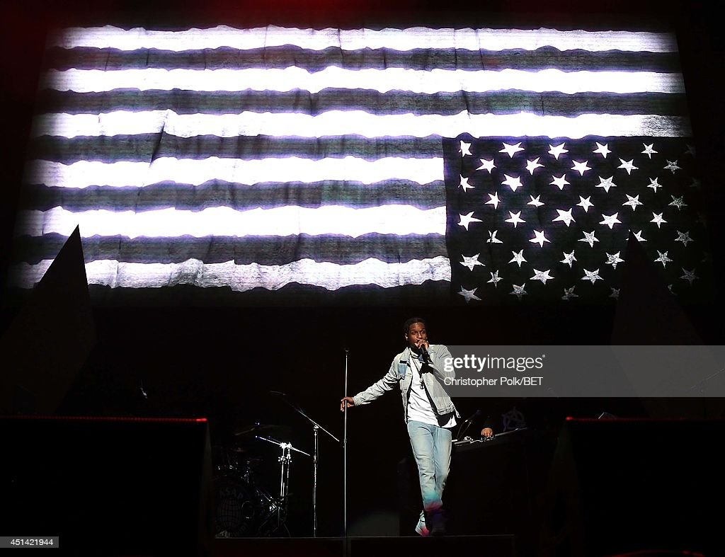 Rapper A$AP Rocky performs onstage at the OutKast, A$AP Rocky, Rick Ross, K. Michelle, August Alsina & Ty Dolla $ign Presented By Sprite during the 2014 BET Experience At L.A. LIVE on June 28, 2014 in Los Angeles, California.