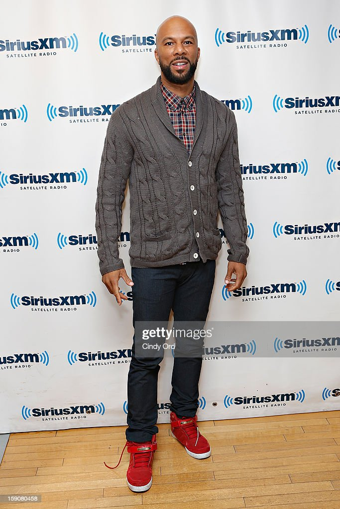 Rapper/ actor Common visits the SiriusXM Studios on January 7, 2013 in New York City.