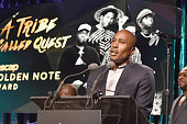 Rapper Ali Shaheed Muhammad of A Tribe Called Quest accepts the ASCAP Golden Note Award at the 2016 ASCAP Rhythm Soul Awards at the Beverly Wilshire...