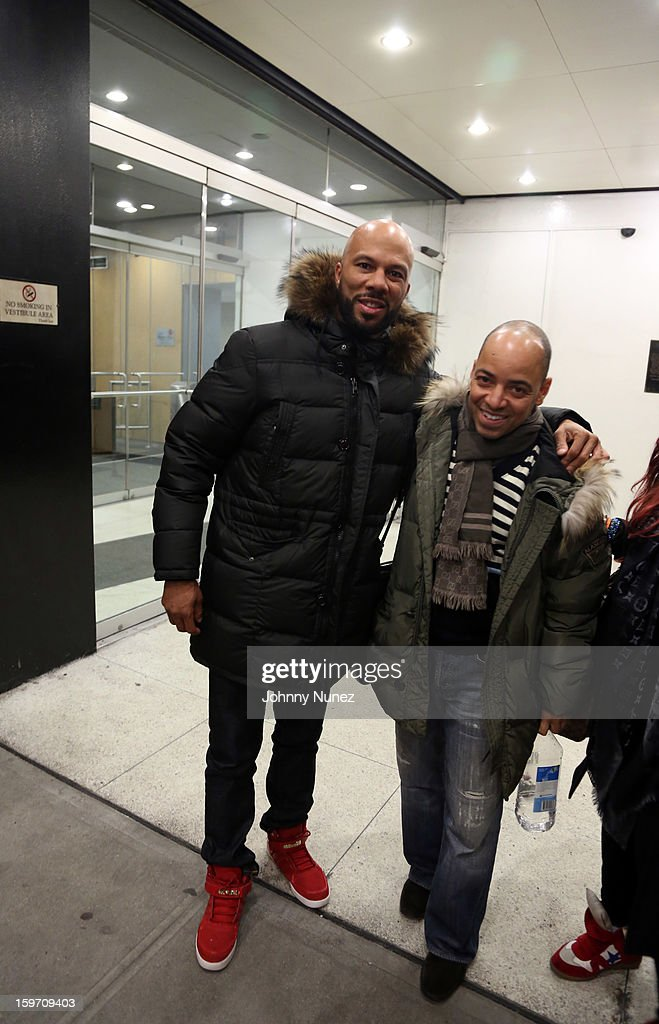 Rapper and actor Common and artist manager Derek Dudley visit BET's '106 & Park' at 106 & Park Studio on January 18, 2013 in New York City.