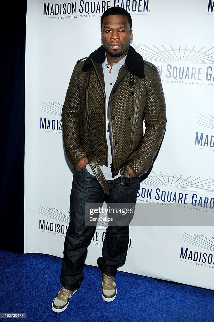 Rapper and actor Curtis '<a gi-track='captionPersonalityLinkClicked' href=/galleries/search?phrase=50+Cent+-+Rapper&family=editorial&specificpeople=215363 ng-click='$event.stopPropagation()'>50 Cent</a>' Jackson attends the Madison Square Garden Transformation Unveiling at Madison Square Garden on October 24, 2013 in New York City.