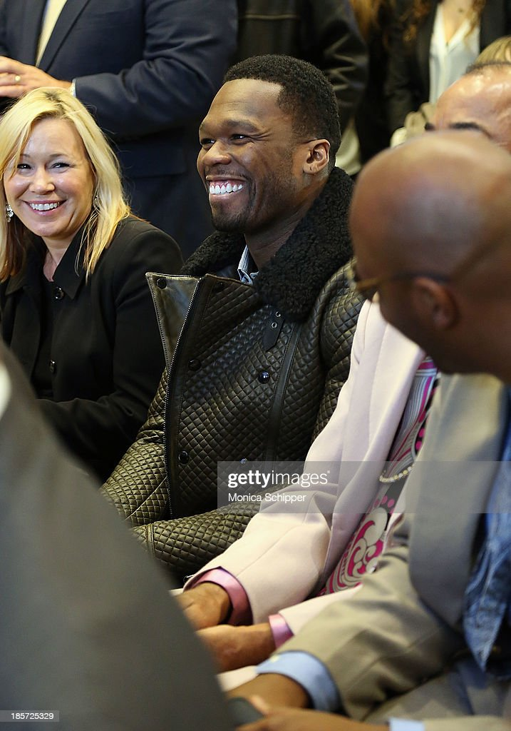 Rapper and actor Curtis '<a gi-track='captionPersonalityLinkClicked' href=/galleries/search?phrase=50+Cent+-+Rapper&family=editorial&specificpeople=215363 ng-click='$event.stopPropagation()'>50 Cent</a>' Jackson attends the unveiling of Madison Square Garden on October 24, 2013 in New York City.