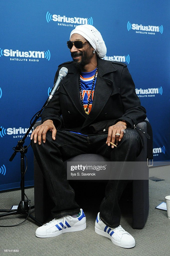Rapper and record producer Snoop Lion makes a surprise visit to 'SiriusXM's Town Hall with Cheech & Chong' moderated by Artie Lange at the SiriusXM Studios on April 25, 2013 in New York City.