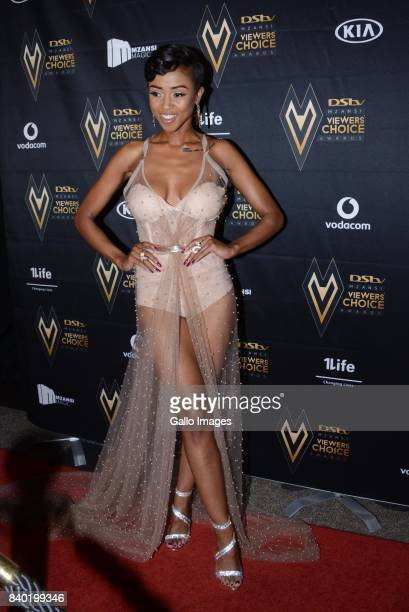 Rapper and TV personality Nomuzi Mabena during the DStv Mzansi Viewers Choice Awards event at the Sandton Convention Centre on August 26 2017 in...