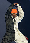 Rapper Andre 3000 of Outkast performs during the 2014 Coachella Valley Music And Arts Festival at The Empire Polo Club on April 18 2014 in Indio...