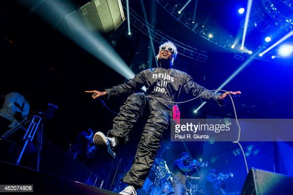 Rapper Andre 3000 of Outkast performs onstage during the BET Experience at LA Live on June 28 2014 in Los Angeles California