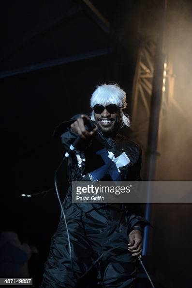 Rapper Andre 3000 performs onstage during the 2014 Counterpoint Festival at Kingston Downs on April 27 2014 in Rome Georgia