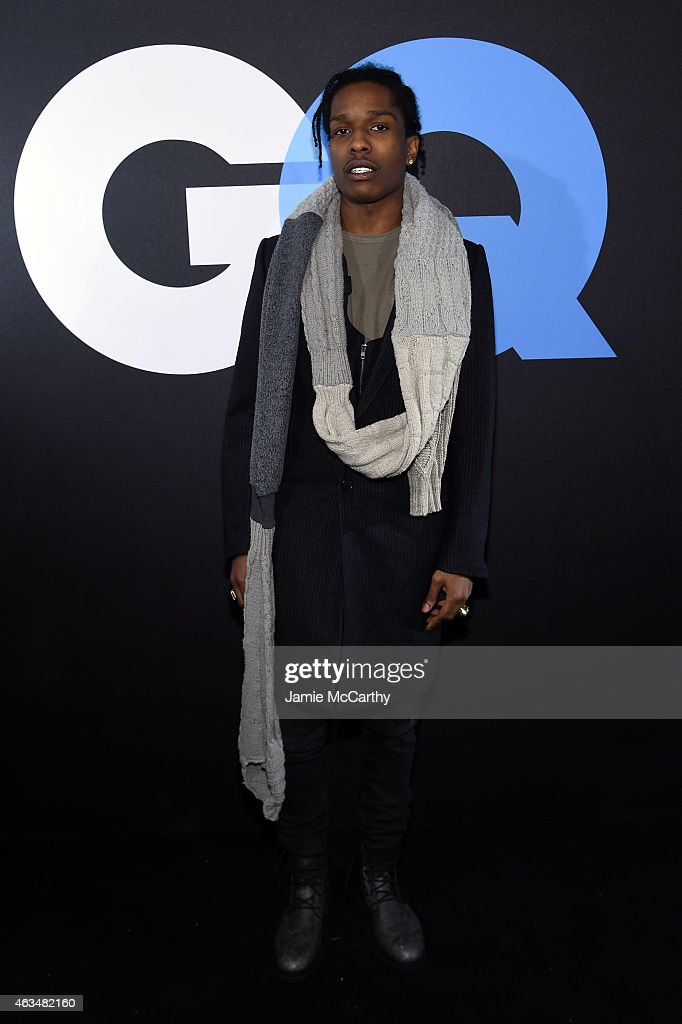 Rapper <a gi-track='captionPersonalityLinkClicked' href=/galleries/search?phrase=ASAP+Rocky&family=editorial&specificpeople=8562085 ng-click='$event.stopPropagation()'>ASAP Rocky</a> attends GQ and LeBron James Celebrate All-Star Style on February 14, 2015 in New York City.