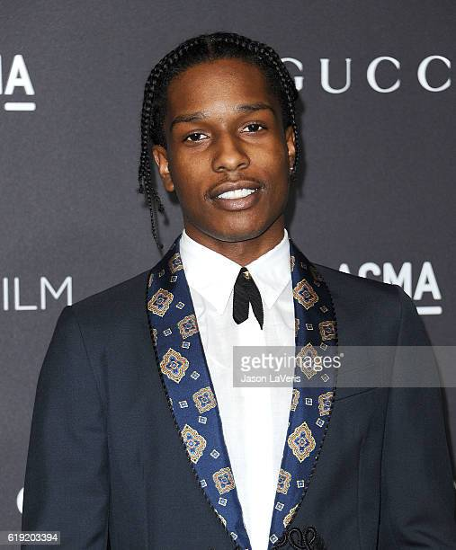 Rapper ASAP Rocky attends the 2016 LACMA Art Film gala at LACMA on October 29 2016 in Los Angeles California