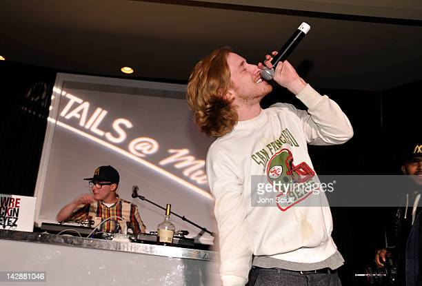 Rapper Asher Roth performs at DETAILS at Midnight party presented by Hennessy VS on April 13 2012 in Rancho Mirage California
