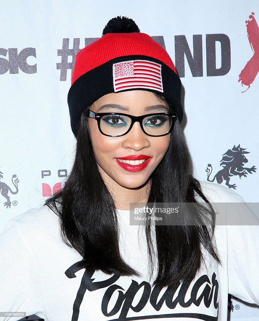 Rapper Bebe O'Hare attends Brand X Live with Eric Bellinger at the El Rey Theatre on December 19, 2013 in Los Angeles, California.