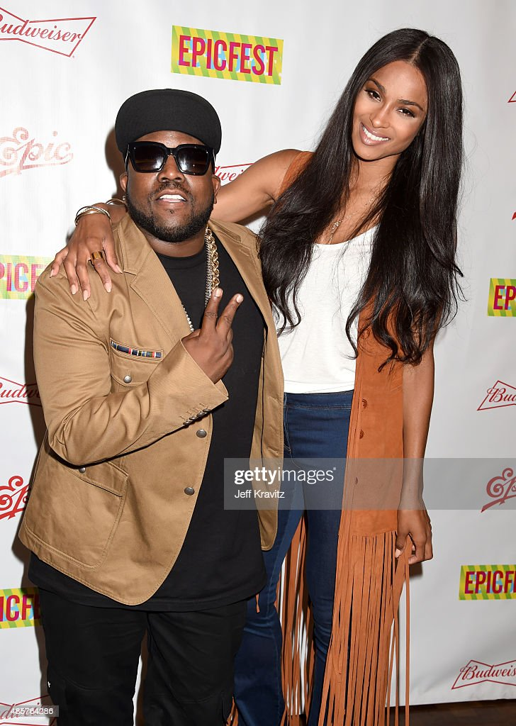 Rapper Big Boi and singer Ciara attend EpicFest presented by Chairman and CEO of Epic Records LA Reid at Sony Pictures Studios on August 29 2015 in...