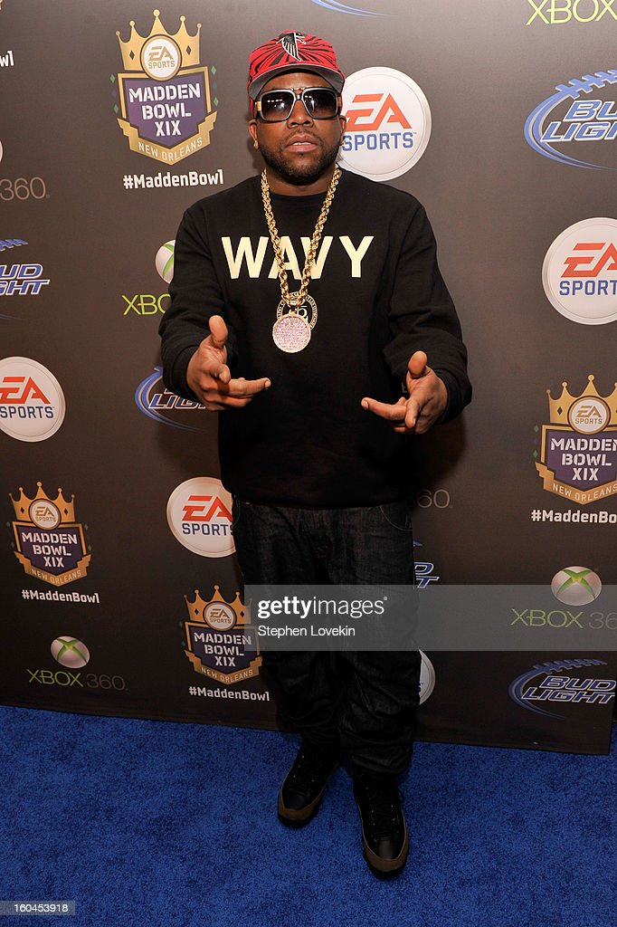Rapper Big Boi arrives at EA SPORTS Madden Bowl XIX at the Bud Light Hotel on January 31 2013 in New Orleans Louisiana