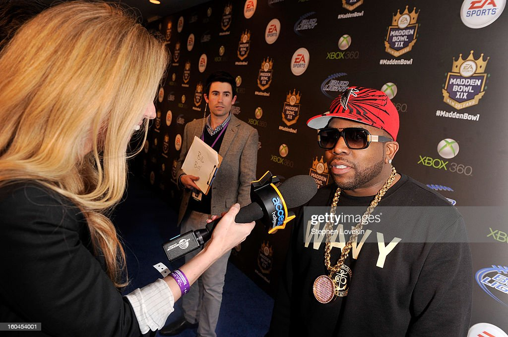 Rapper <a gi-track='captionPersonalityLinkClicked' href=/galleries/search?phrase=Big+Boi&family=editorial&specificpeople=202898 ng-click='$event.stopPropagation()'>Big Boi</a> arrives at EA SPORTS Madden Bowl XIX at the Bud Light Hotel on January 31, 2013 in New Orleans, Louisiana.