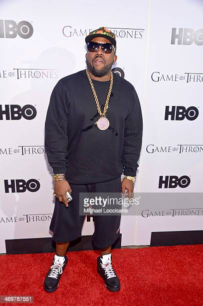 Rapper Big Boi arrives at the HBO Game of Thrones Catch The Throne All Star Weekend Event at Republic on February 16 2014 in New Orleans Louisiana