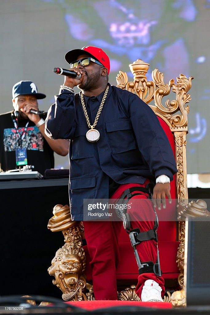 Rapper Big Boi performs at H2O Music Festival at Los Angeles Historical Park on August 17 2013 in Los Angeles California