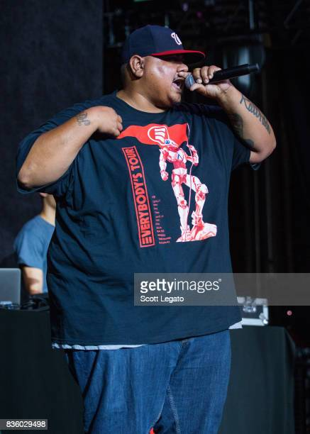 Rapper Big Lenbo performs in support of the Everybody's Tour at Meadow Brook Music Festival on August 20 2017 in Rochester Michigan
