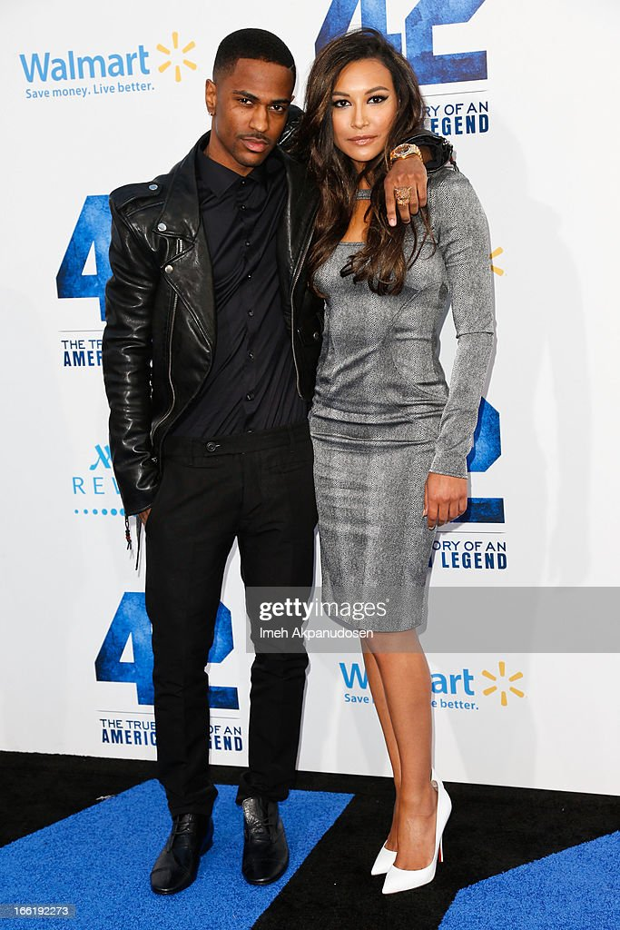 Rapper <a gi-track='captionPersonalityLinkClicked' href=/galleries/search?phrase=Big+Sean&family=editorial&specificpeople=4449582 ng-click='$event.stopPropagation()'>Big Sean</a> (L) and actress <a gi-track='captionPersonalityLinkClicked' href=/galleries/search?phrase=Naya+Rivera&family=editorial&specificpeople=5745696 ng-click='$event.stopPropagation()'>Naya Rivera</a> attend the premiere of Warner Bros. Pictures' And Legendary Pictures' '42' at TCL Chinese Theatre on April 9, 2013 in Hollywood, California.