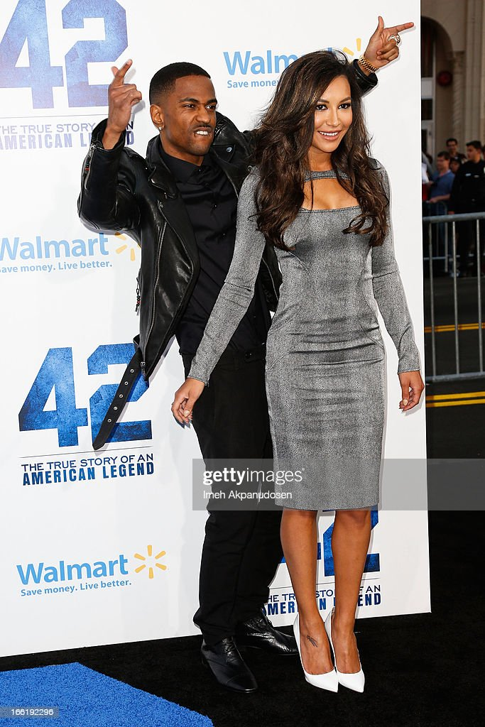 Rapper Big Sean (L) and actress Naya Rivera attend the premiere of Warner Bros. Pictures' And Legendary Pictures' '42' at TCL Chinese Theatre on April 9, 2013 in Hollywood, California.