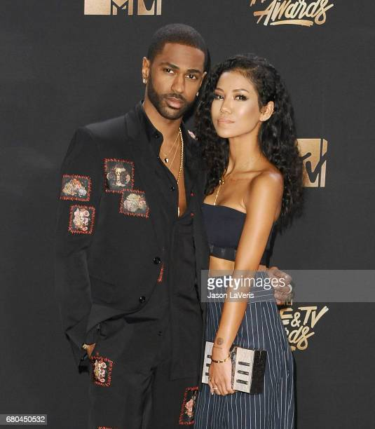 Rapper Big Sean and Jhene Aiko pose in the press room at the 2017 MTV Movie and TV Awards at The Shrine Auditorium on May 7 2017 in Los Angeles...