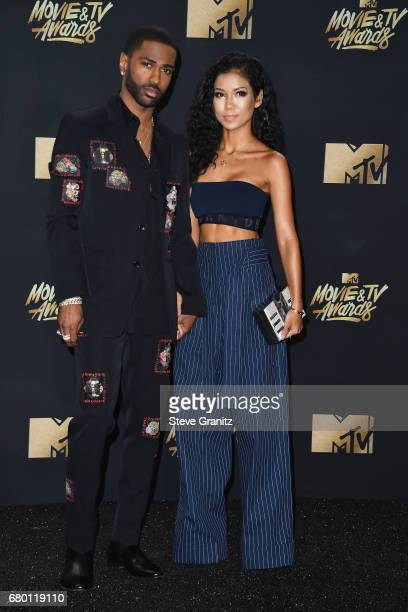 Rapper Big Sean and singer Jhene Aiko attend the 2017 MTV Movie and TV Awards at The Shrine Auditorium on May 7 2017 in Los Angeles California