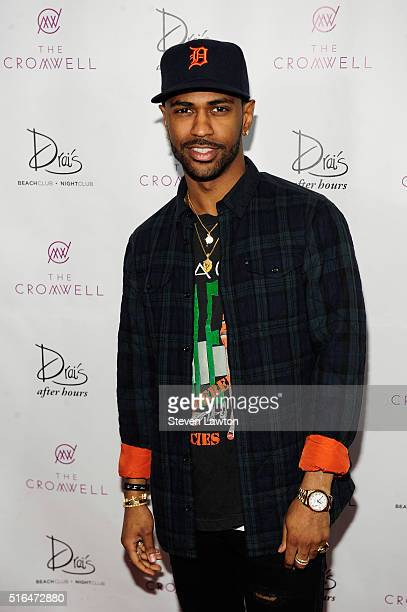 Rapper Big Sean arrives at Drai's Beach Club Nightclub at The Cromwell Las Vegas to celebrate his birthday on March 19 2016 in Las Vegas Nevada